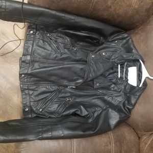 Jessica Simpson Faux Leather Jacket.